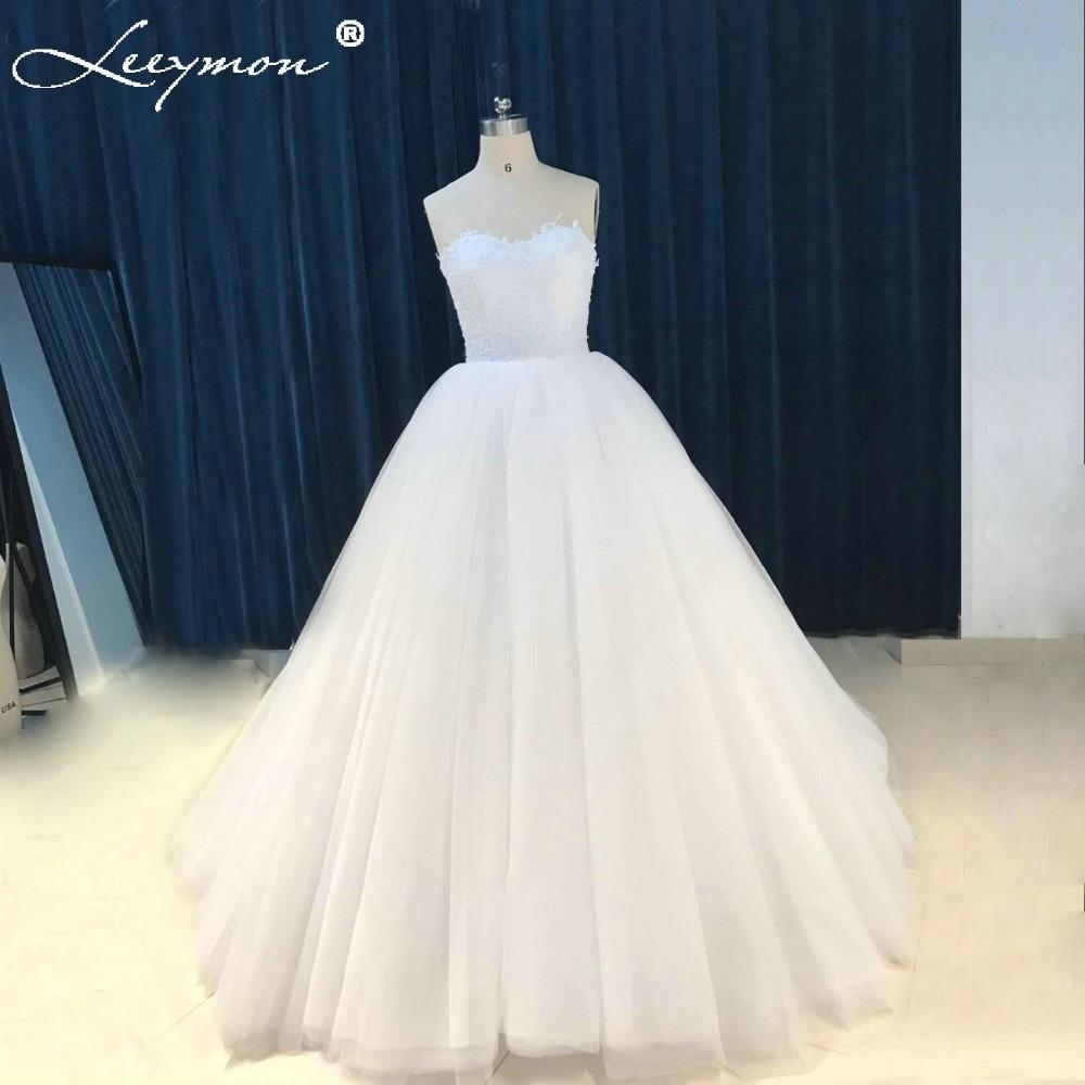 W197 낭만적 인 흰색 아가 야 공 가운 신부 드레스 긴 - 웨딩 드레스