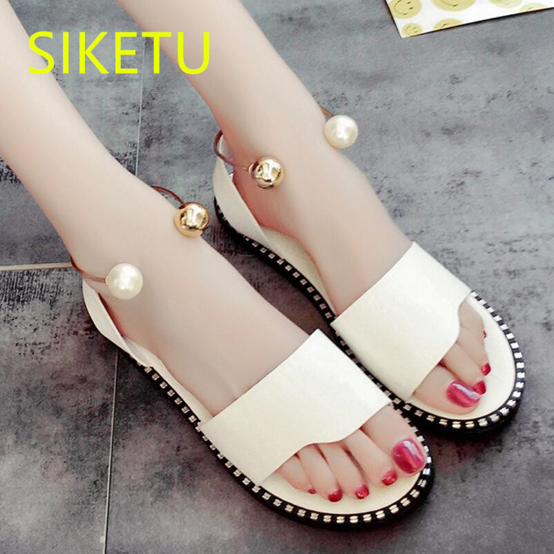 SIKETU Free shipping Summer sandals Fashion casual shoes sex women shoes flip flop Flat shoes Flats l036 NEW studen women s shoes 2017 summer new fashion footwear women s air network flat shoes breathable comfortable casual shoes jdt103