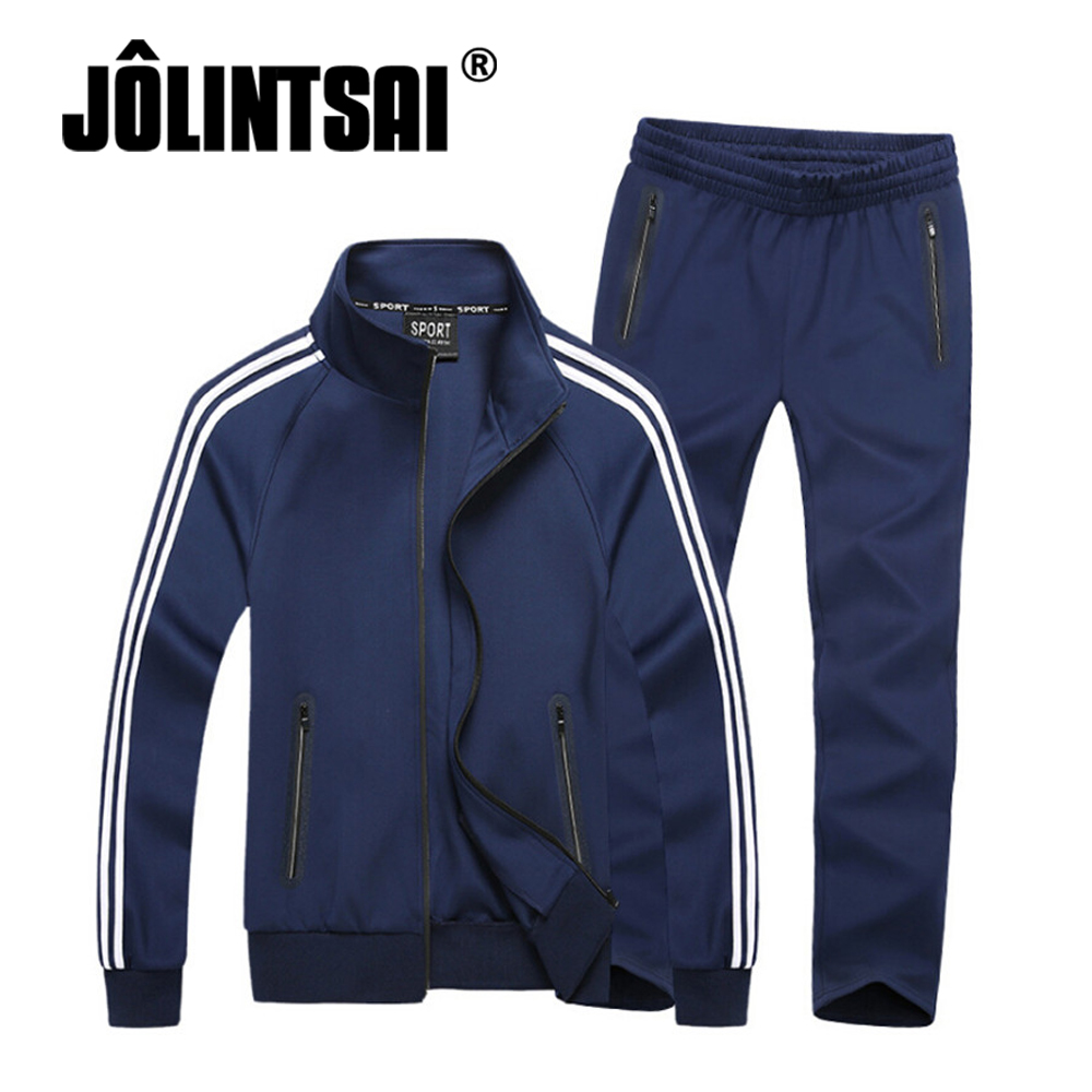 2017 Autumn Two Pieces Set Men Plus Size 6XL 7XL 8XL Clothing Sporting Suits Tracksuit Striped Casual Sweatshirt+Pant Set Men men plus size 4xl 5xl 6xl 7xl 8xl 9xl winter pant sport fleece lined softshell warm outdoor climbing snow soft shell pant