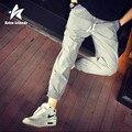 2016 Harem Pants Homens Moda Outono Solta Confortável Mens Tornozelo-Comprimento Lápis Sweatpants Casual Sólidos Roupas de Marca LW063