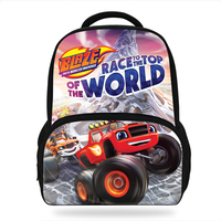Teenager Cartoon Blaze And The Monster Machine Print Backpack Boy School Bags Hot Primary Backpack Schoolbags for Boys Mochila