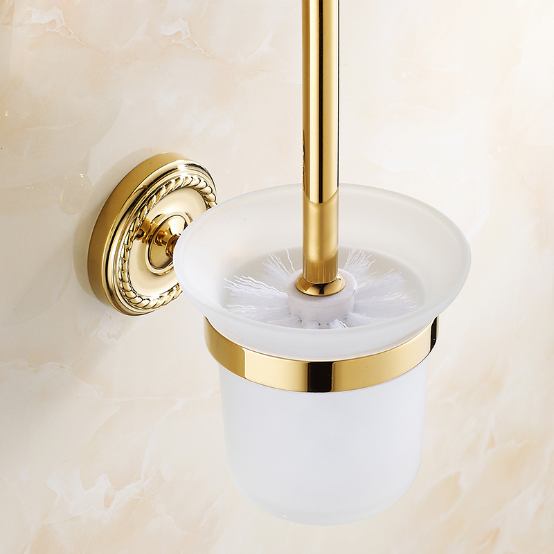 Free Shipping BAKALA Fashionable Gilded Toilet Brush Bathroom Accessories Products for toilet and bathroom Z 9008K