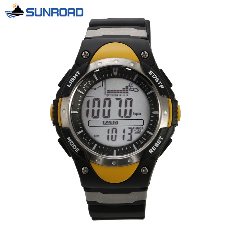 SUNROAD Women Watches Outdoor Sport Fishing Altimeter Barometer Thermometer Altitude Climbing Hiking Digital Clock Womens Hours