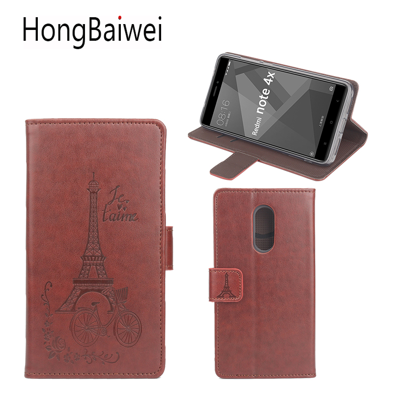 <font><b>Redmi</b></font> 9 cases Cover For <font><b>Xiaomi</b></font> <font><b>Redmi</b></font> Note <font><b>4X</b></font> Leather Case <font><b>Redmi</b></font> <font><b>4X</b></font> 4A <font><b>3D</b></font> Printed Eiffel Tower Flip Luxury Wallet Phone Bag Case image