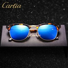 Carfia sunglasses women 5109 acetate sunglasses brand designer mirror glasses 2017 vintage fashion sun glasses men with box