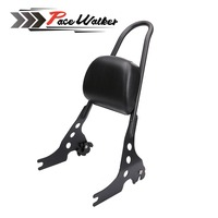 Motorcycle Black Luggage Rack Rear Passenger Backrest Sissy Bar Cushion Pad For Harley Sportster XL883 1200