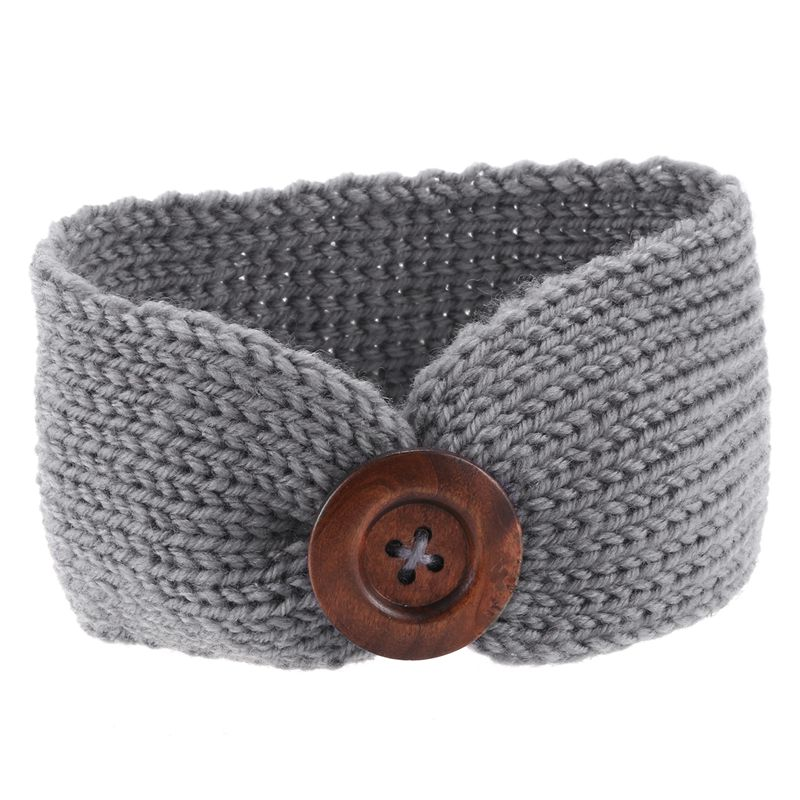 Toddler Infant Baby Girl Knitted Button Headbands Knotted Head Wrap Band Girl Headbands Kids Headband Bow Hair Accessories