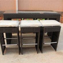 Лидер продаж Современные ручной работы сад ротанга смолы плетеная мебель для бара