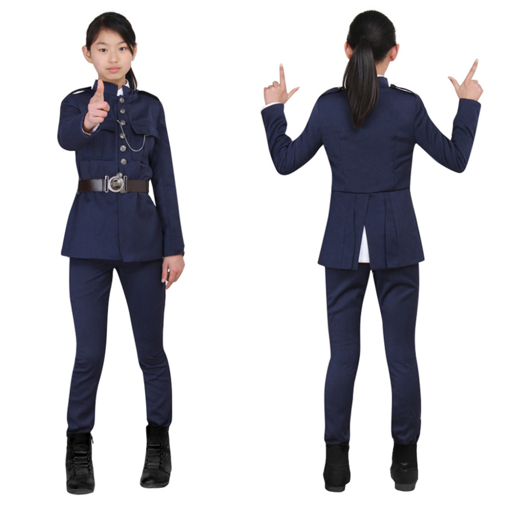 Супер полиция костюм для детей полицейский Топ и штаны Костюмы для косплея полицейский Необычные костюм Индивидуальный заказ