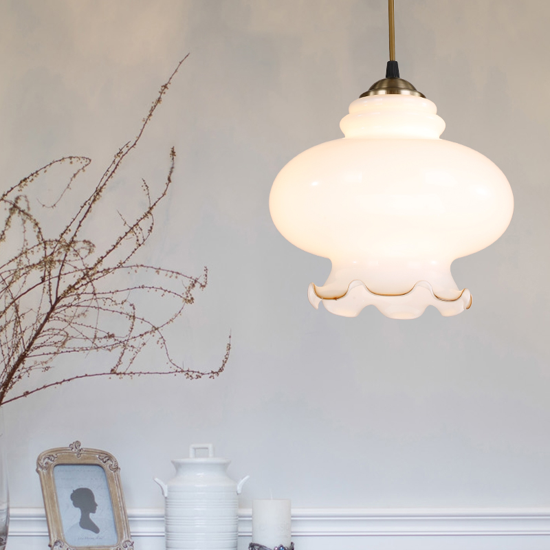 Industrial Vintage Retro Flower Droplight Cafe Bar Art Milk Glass Decorative Pendant Ceiling Lamp Cafe Bar Shop Restaurant loft retro tree glaze glass pendant lamp lights cafe bar art children s bedroom balcony hall shop aisle droplight decoration