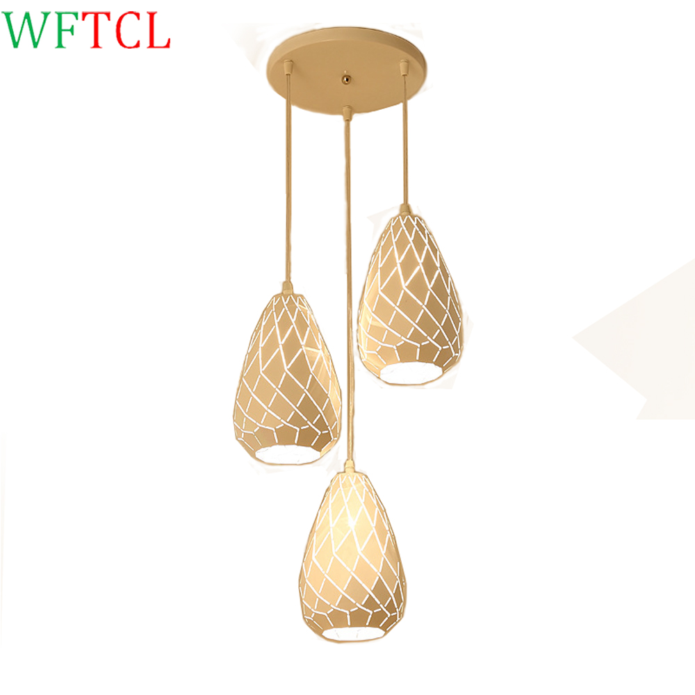 WFTCL modern chandeliers LED Lamp ceiling light fixture with E27 LED Bulb for kitchen white LED chandelier, dining room lighting modern crystal chandelier hanging lighting birdcage chandeliers light for living room bedroom dining room restaurant decoration