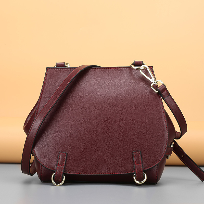 European New Style Fashion Woman Genuine Leather Cowhide Handbag Cover Circle Hasp Shoulder Bag Travel Solid Color Messenger Bag pacgoth woman 2017 new fashion european and american style pu leather handbag gold color round square fold over bag 30x30cm