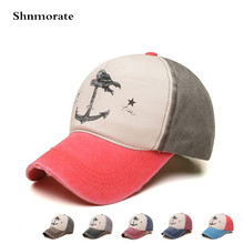 Brand New Printed Anchor Adjustable Cap Men Women Snapback Baseball Caps Casquette Unisex Hat Sport Gorras Hombre Outdoor Cap new arrivals cotton gorras anchor baseball cap vintage casual hat snapback adjuatable baseball caps brand new for adult b334