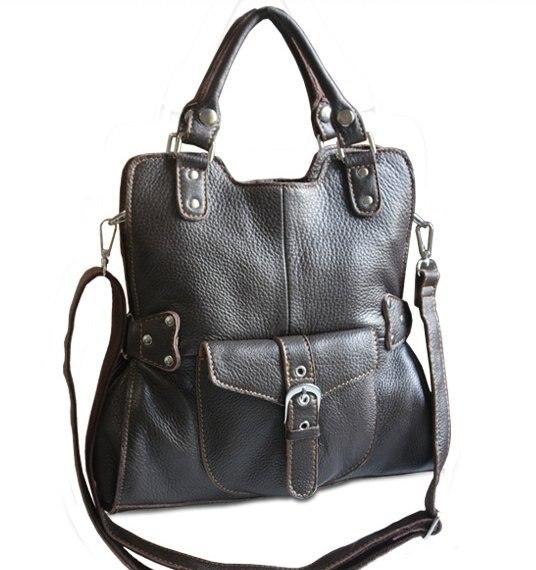 Nuevo 2015 de lujo del cuero genuino bolsas de mensajero de cuero Crossbody para