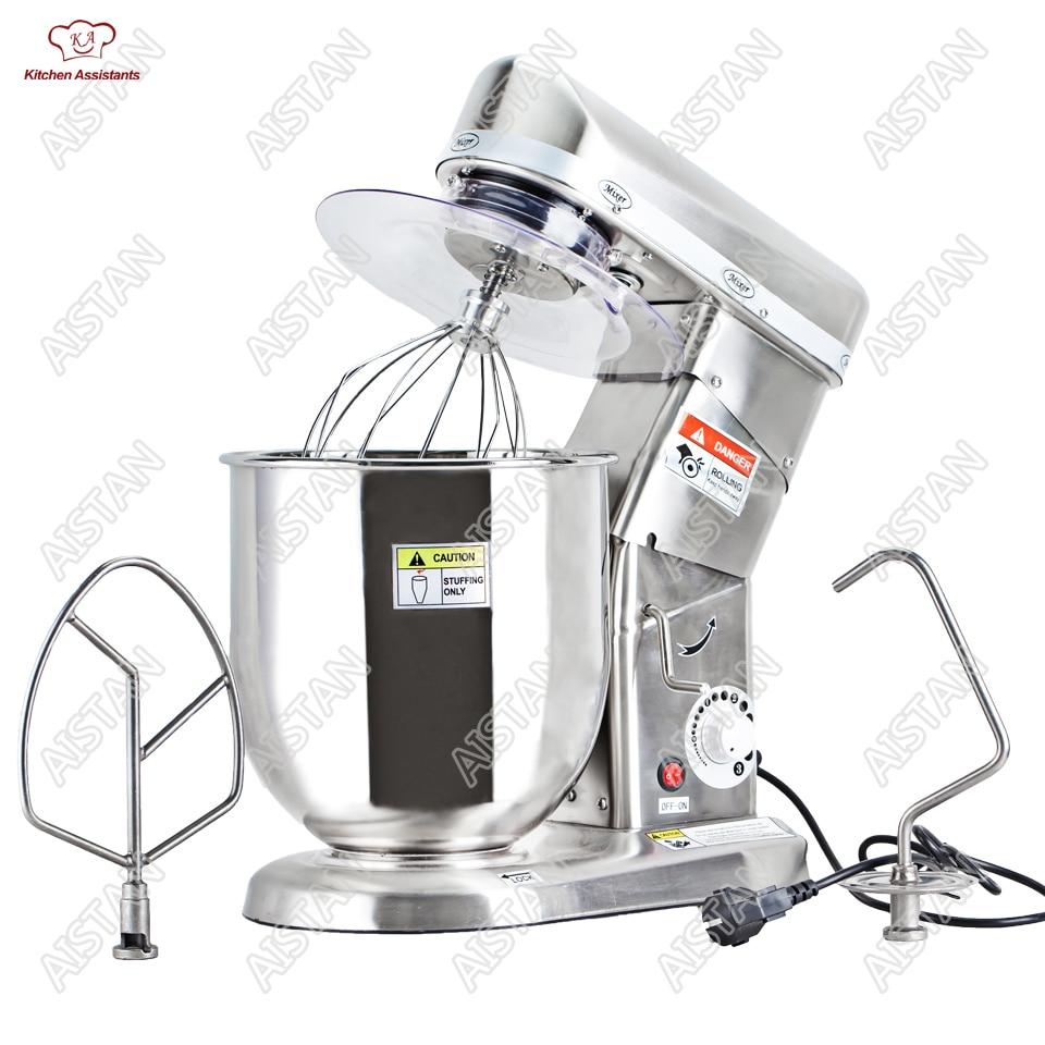 Uso domestico o uso commerciale 7, 10 Litri elettrico del basamento del robot da cucina, planetario di cottura mixer, frullino per le uova, pasta mixer macchina