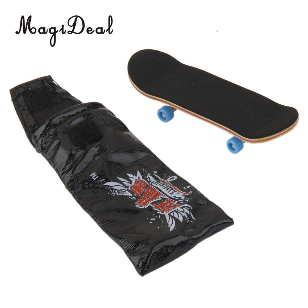 MagiDeal 1Pc Wooden Mini Fingerboard Skateboard Sport Games for Collection Office Desk Pub Classroom Decor Kids Novelty Gag Gift