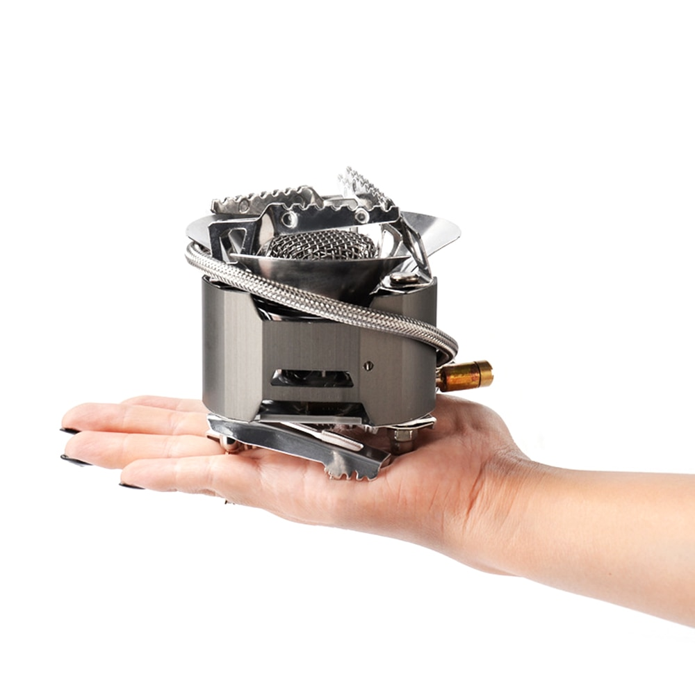 Outdoor Gas Stove Foldable Cooking Windproof Backpacking Camping Cooking Stove for Backpacking Survival Cooking Picnic