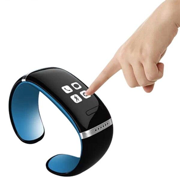 L12S font b Smart b font Bracelet OLED Sports Pedometer font b Smart b font Wristband