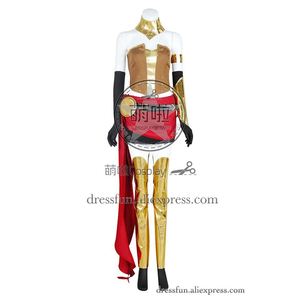 RWBY Cosplay Pyrrha Nikos Team JNPR Costume Dress Golden Fashion Full Set Outfits Uniform Patry Fast Shipping Halloween