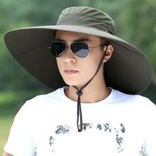 قبعة رجل الصيف صياد تسلق الجبال تنفس الشمس الظل القبعات في الهواء الطلق الصيد الذكور واقية من الشمس كول موضة قبعات لا تغطي الرأس بالكامل H167