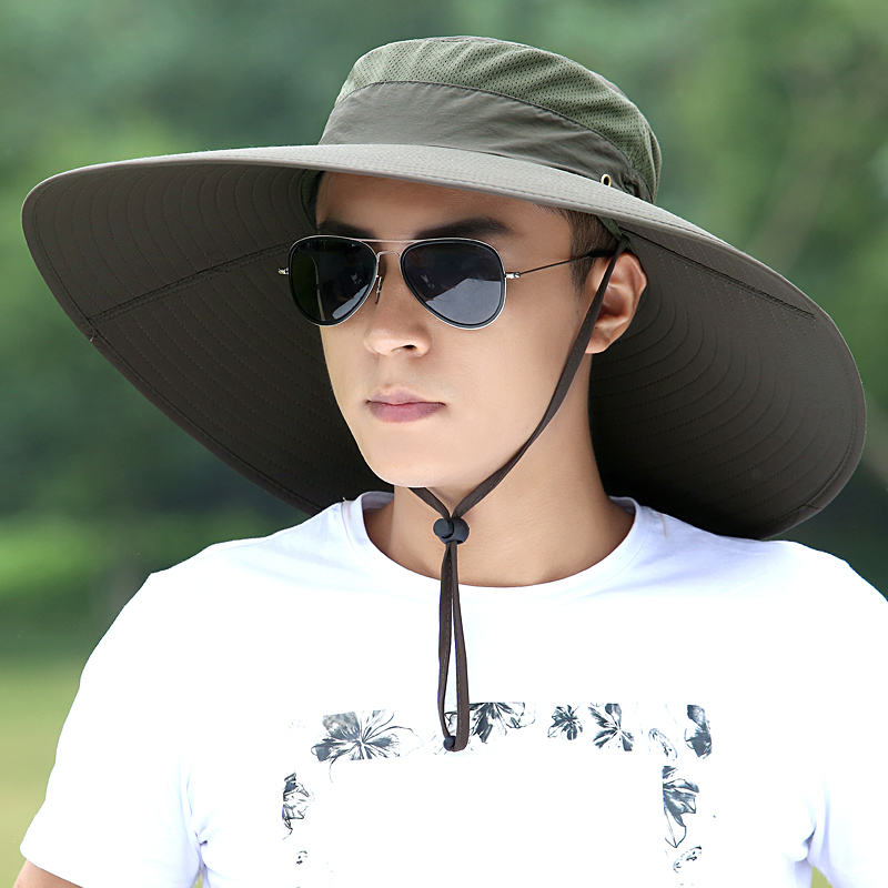 Hat Man Summer Fisherman Mountaineering Breathable Sun Shade Hats Outdoor Fishing Male Sunscreen Cool Fashion Visor Caps H167