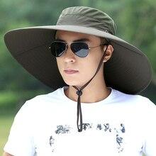 Şapka Adam Yaz Balıkçı Dağcılık Nefes Güneş Gölge Şapka Açık Balıkçılık Erkek Güneş Kremi Serin Moda vizör kep H167