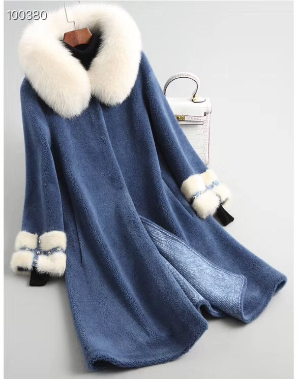 Royal Réel 2 Renard Naturel Femmes Bleu Manteau Outwear Jaune Laine d5x4vq