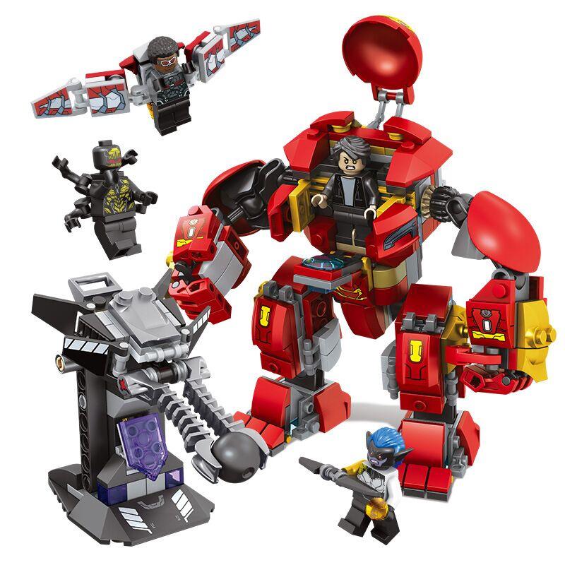 1001 Hulkbuster Smash U Building Blocks Compatible Superheroes Iron Man Falcon Hulk Buster 76104 Marvel Avengers Endgame Toy in Blocks from Toys Hobbies
