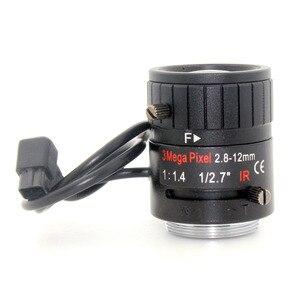 Image 4 - 3MP 2.8 12mm HD 3.0 megapixel Auto Iris varifocale IR metalen CS CCTV lens, F1.4, voor Veiligheid cctv camera