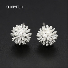 925 sterling silver needle Stud earrings Personality snow Womens fashion jewelry wholesale