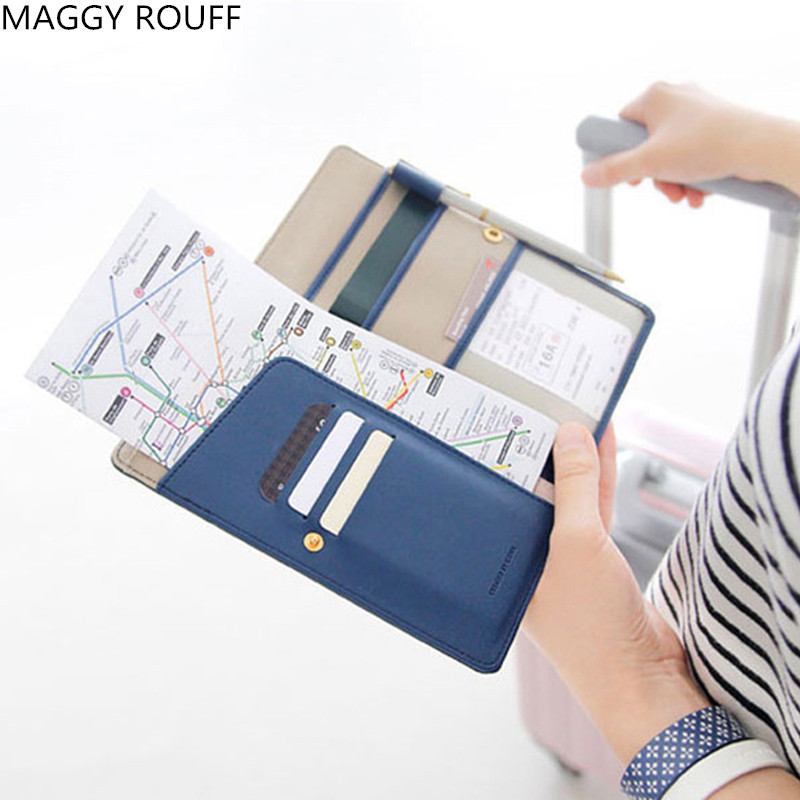 Travel  Fabric PU Cover ID Card Holder  Women Wallet Organizer Ticket Passport Credit Card ID Document middle clerk working id card holder exhibition identification card cover tag aluminium alloy metal staff badge for colleagues