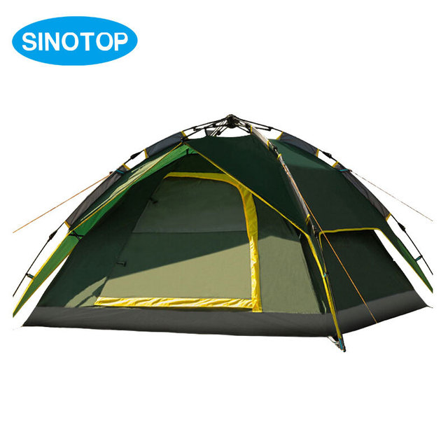 High Quality Waterproof Outdoor C&ing Automatic Tent 3-4 Person Double Layer Ultralarge Army Green  sc 1 st  AliExpress.com & High Quality Waterproof Outdoor Camping Automatic Tent 3 4 Person ...