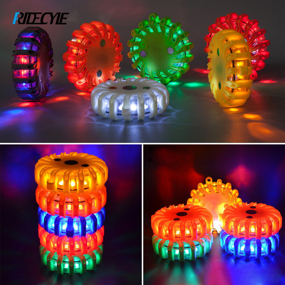 Cycling Safety Flashing Bicycle Lights Vehicle Rechargeable Warning Strobe Bike Lights Emergency SOS LED With Magnetic Base ...