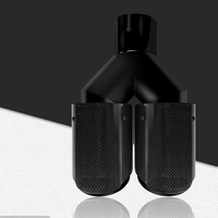 1Pcs Black Pipe of Different Size Dual Carbon Fiber Stainless Steel Exhaust Tip Universal Auto Akrapovic Exhaust Muffler Pipe