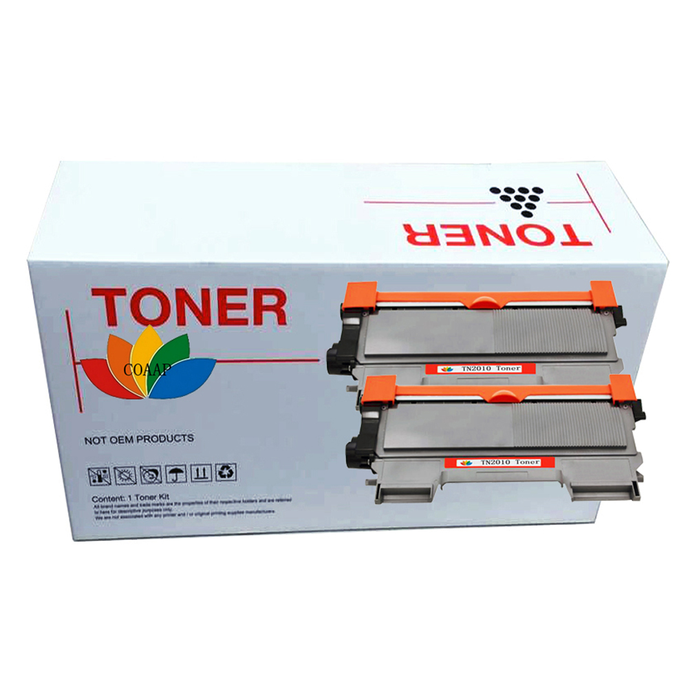 2 Compatible TN 2010 Toner <font><b>Cartridge</b></font> For Brother TN2010 DCP-7055 DCP-7055W DCP-7057 <font><b>HL</b></font>-<font><b>2130</b></font> <font><b>HL</b></font>-2132 <font><b>HL</b></font>-2135W Printer image