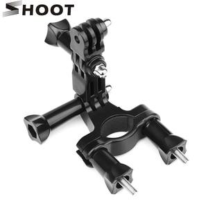 Image 1 - SHOOT 3 Way Pivot Arm Bicycle Clamp Handlebar Seatpost Pole Holder Mount for GoPro 9 8 7 6 5 Xiaomi Yi 4k Sjcam Eken Accessories