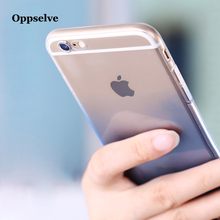 Ultra Thin Transparent Gradient Coque Case For iPhone 6 6s 7 Plus Funda Soft TPU Silicone Sleeve Cover 8