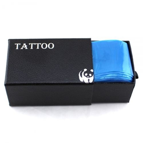 100pcs Plastic Blue Tattoo Clip Cord Sleeves Covers Bags Supply 16 New Hot Professional Tattoo Accessory Tattoo Clip Cord Bag 3