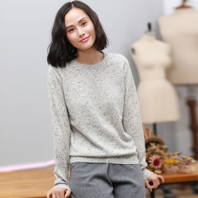 2017 Newest Autumn Ladies Sweater Online Shopping Pure Cashmere Oversized Sweaters Womens Dot Decor Knitting Black Long Sweater