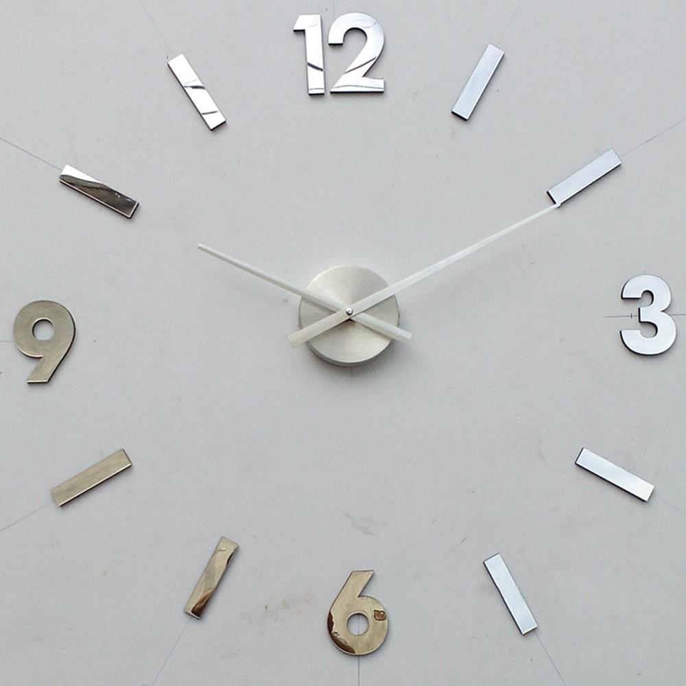 Chiffre arabe 3D bricolage Grand horloge murale Silencieux Acrylique ...