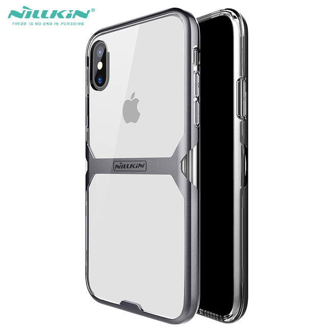 detailed look 5052b a94da US $9.99  Impact Protection Plain Case For Iphone X 10 Nillkin Crystal PC +  Transparent Clear TPU Hydrid Cover Case For iphonex iphone10-in Phone ...