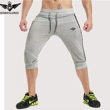 KORKSLORES Summer Mens Brand Jogger Sporting Shorts Slimming Men Bodybuilding Short Pants Male Fitness Gyms Shorts for workout