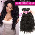 2016 New Arrival Indian Curly Virgin Hair Weft 8A Indian Kinky Curly Virgin Human Hair Weaves 3Pcs Lot Unprocessed Virgin Hair