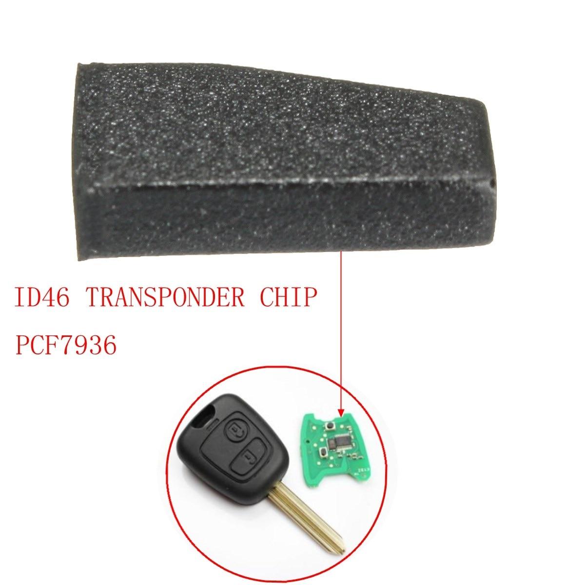 Car Key Transponder Blank Id46 Pcf7936 Virgin Transponder Chip For