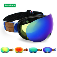 Ski Goggles 2 in 1 with Magnetic Dual use Lens Night Skiing Anti fog UV400 Snowboard Sunglasses