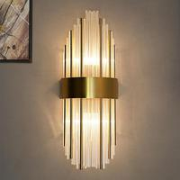 Large project 60/80cm Long Crystal Wall Lamp gold led wall light fixture for Living Room Villa Hotel Stairway Tall Wall sconce