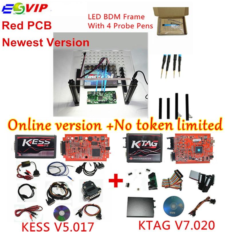 Sconto set completo V5.017 V2.23 + KTAG KESS V7.020 V2.23 + LED Bdm No Token Limitato KESS 5.017 + K-TAG ECU 7.020 strumento