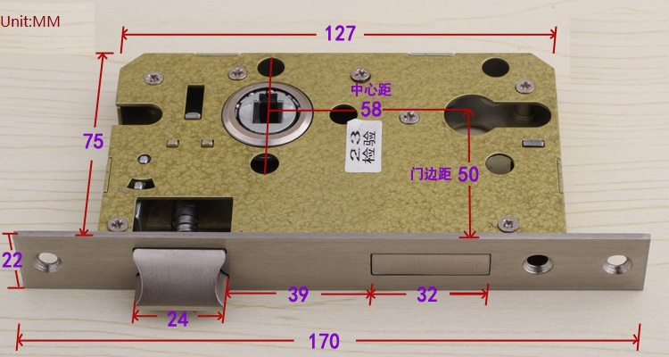 Premintehdw 5850 Mortise Door Lock Body with 304 Stainless Steel Bearing