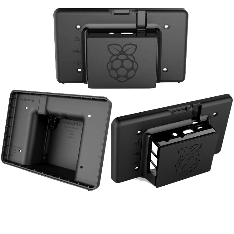 Case ABS Shell for 7inch Touch Capacitive Screen Raspberry Pi LCD Compatible with Raspberry Pi3/Pi2/Pi1 B with Corboard