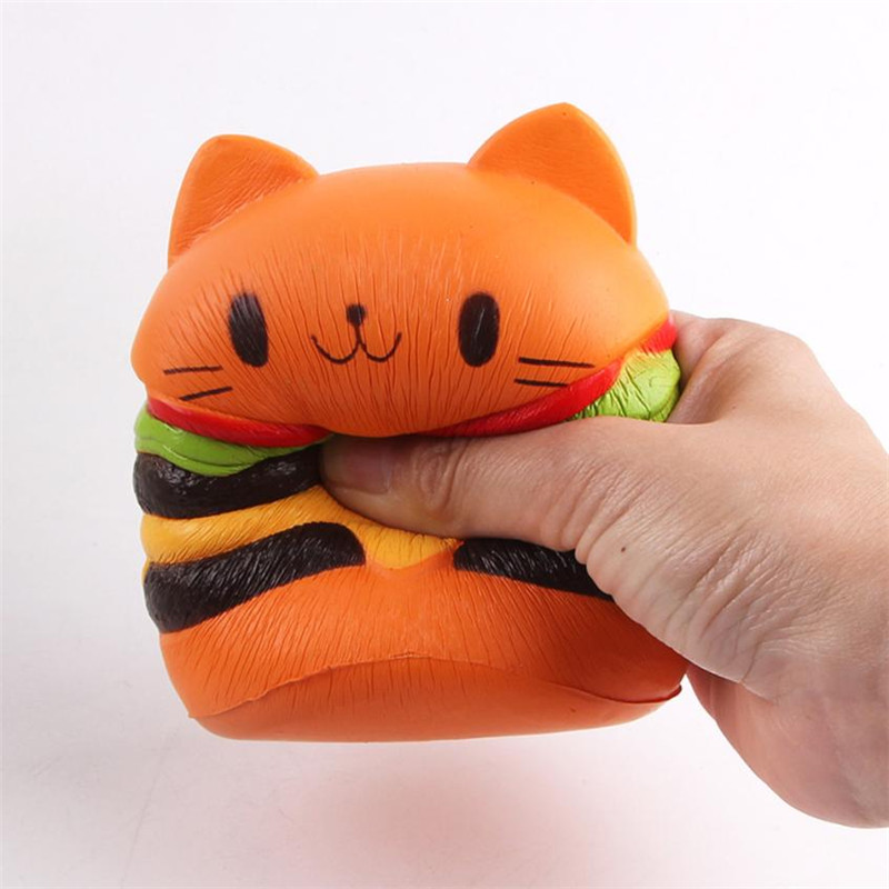 2018 Jumbo Squishy Toys Children Slow Rising Antistrss Toy Cat Hamburger Fries Squishies Stress Relief Toy Funny Kids Gift Toy